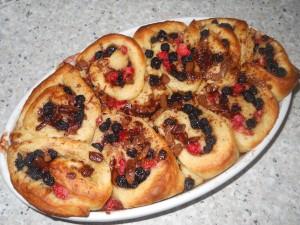 Aronia-Erdbeer-Schnecken